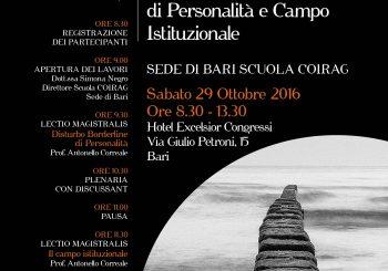 """SEMINARIO CLINICO – """"Disturbo Bordeline di Personalità e Campo Istituzionale"""""""