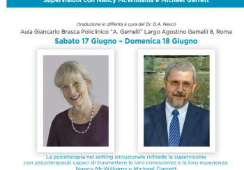 "EVENTO – ""Supervisioni con Nancy McWilliams e Michael Garrett"""