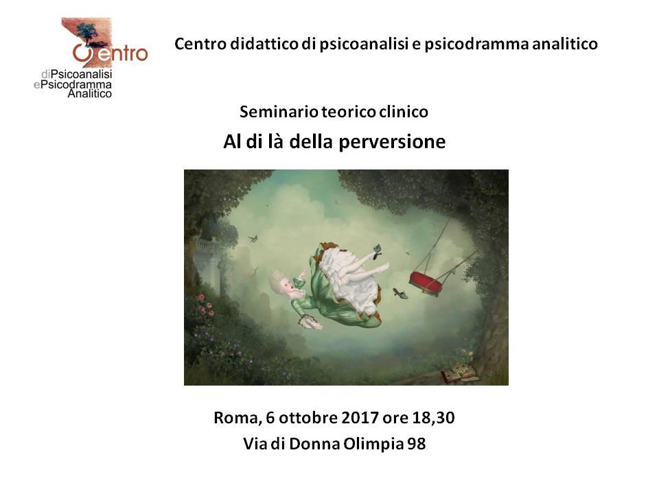 """SEMINARIO TEORICO-CLINICO – """"Al di là della perversione"""""""