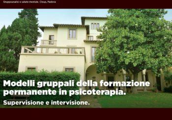 """GIORNATE DI FIESOLE FRANCO FASOLO – """"Modelli gruppali della formazione permanente in psicoterapia: supervisione e intervisione"""""""