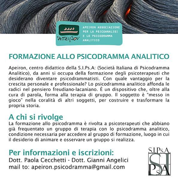 """INCONTRI – """"Formazione allo Psicodramma Analitico"""""""